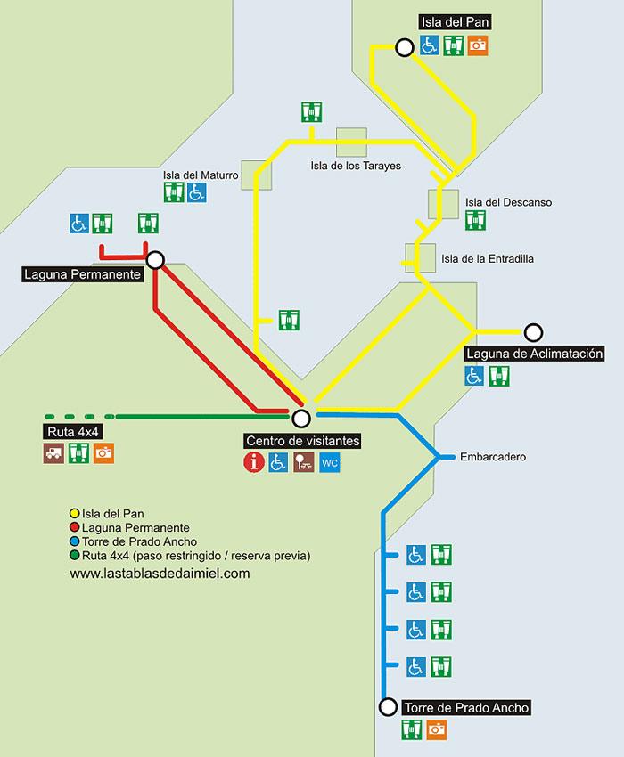 Tablas De Daimiel Mapa.Planos Parque Nacional Tablas De Daimiel Informacion